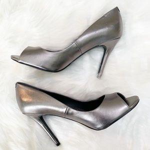 Charles by Charles David Metallic Pewter Heels